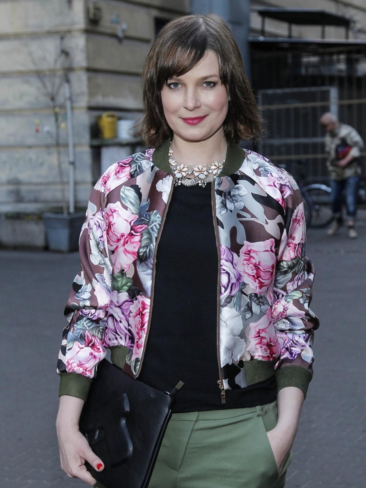 Aneta Todorczuk Perchuć na premierze spektaklu