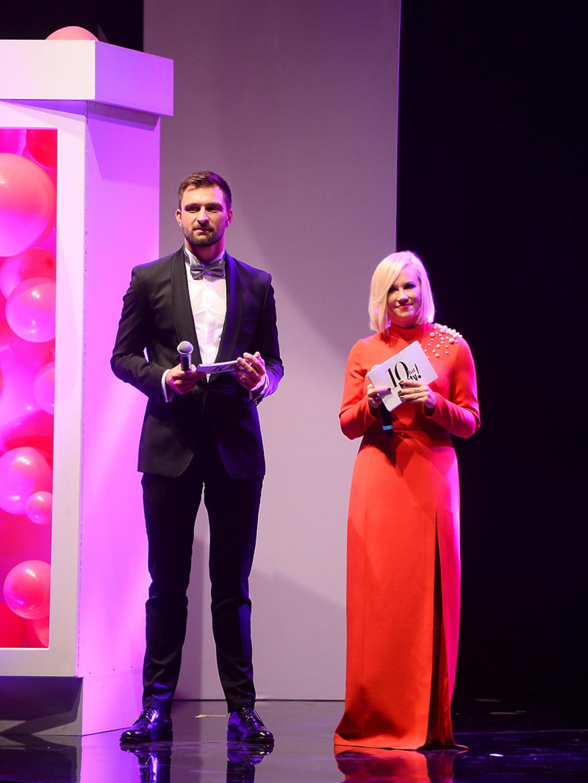Aneta Wikariak i Mateusz Hładki - prowadzący galę rozdania nagród z okazji 10-lecia Magazynu Party