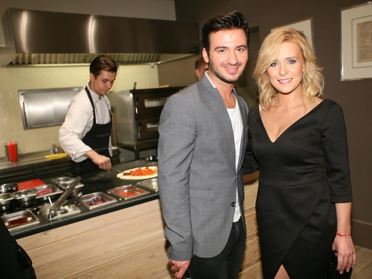 Aneta Zając i Stefano Terrazzino na otwarciu restauracji Focaccia