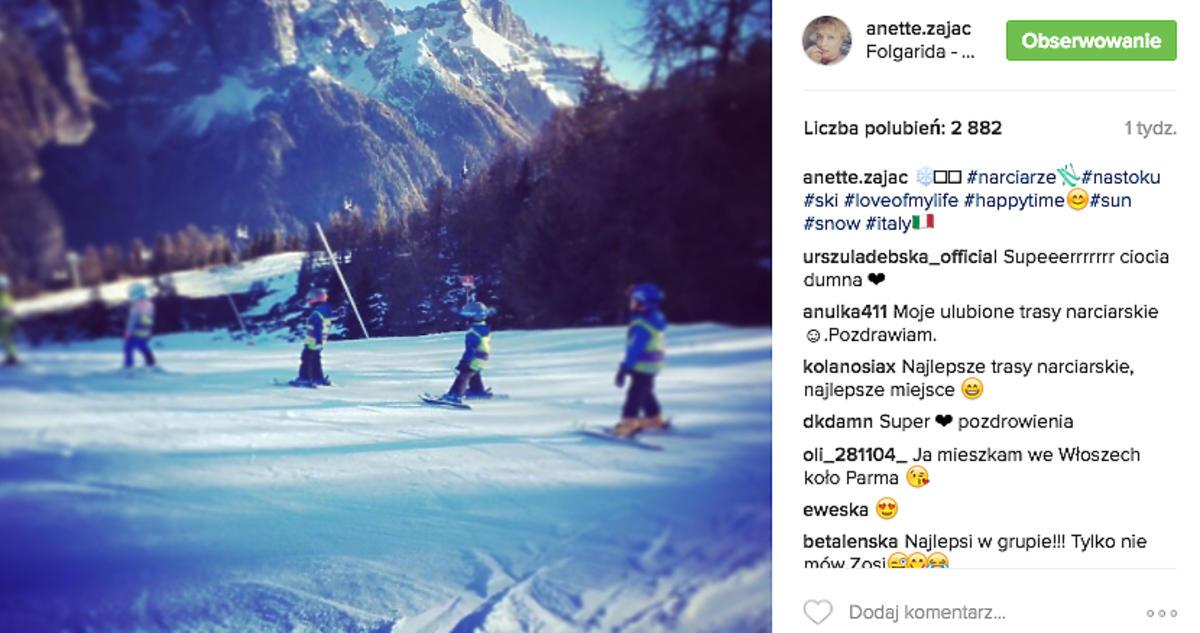 Aneta Zając pokazała synów na Instagramie