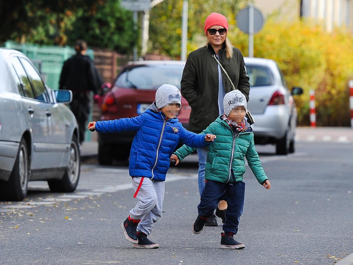 Aneta Zając z synami