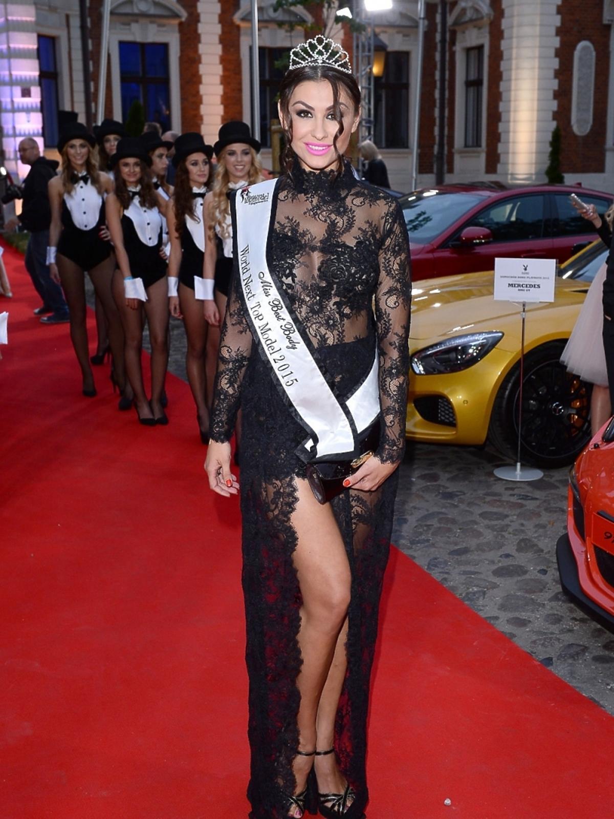 Angelika Fajcht na imprezie Samochód Roku Playboya