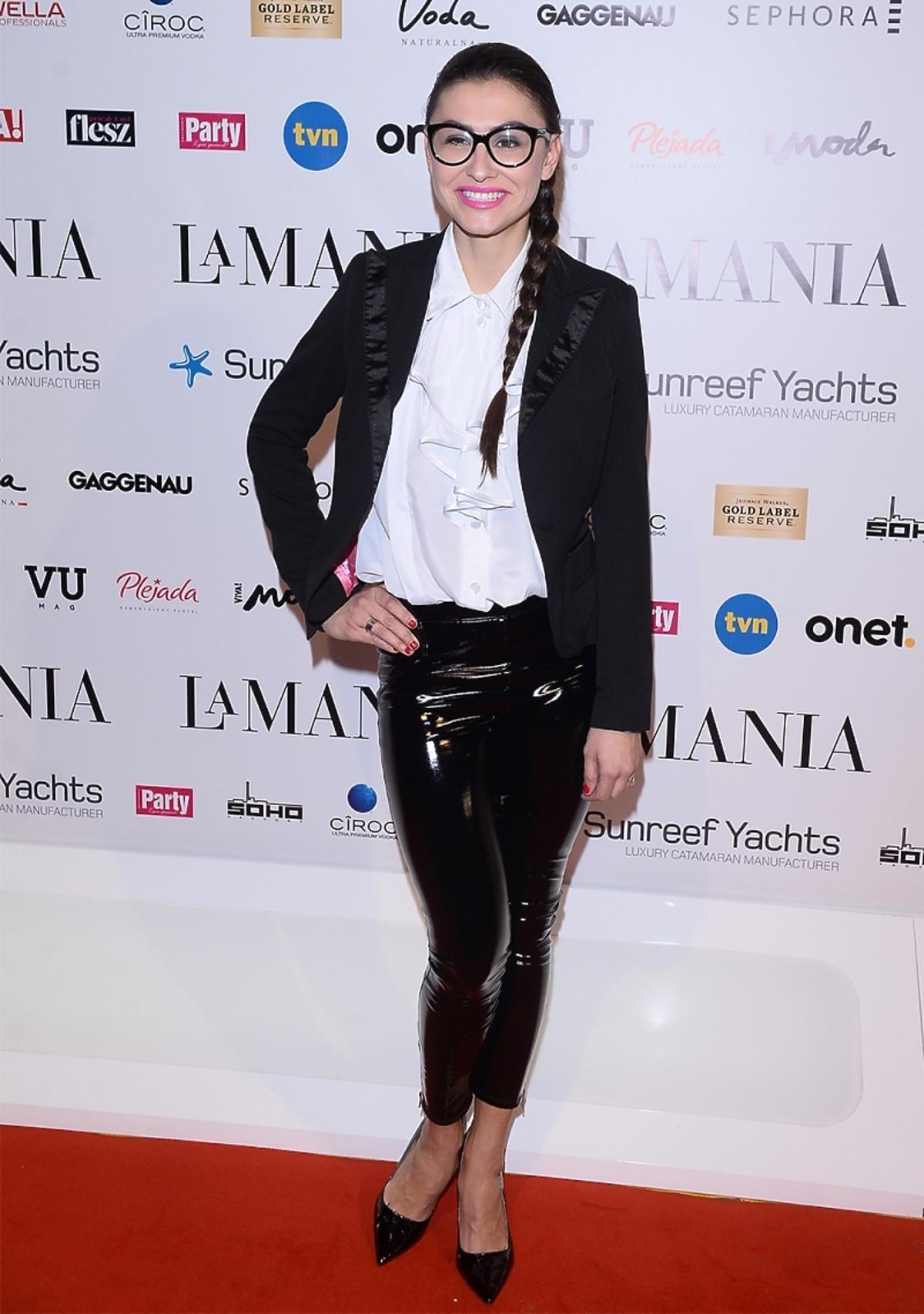 Angelika Fajcht na pokazie La Manii 2014 w Soho Factory