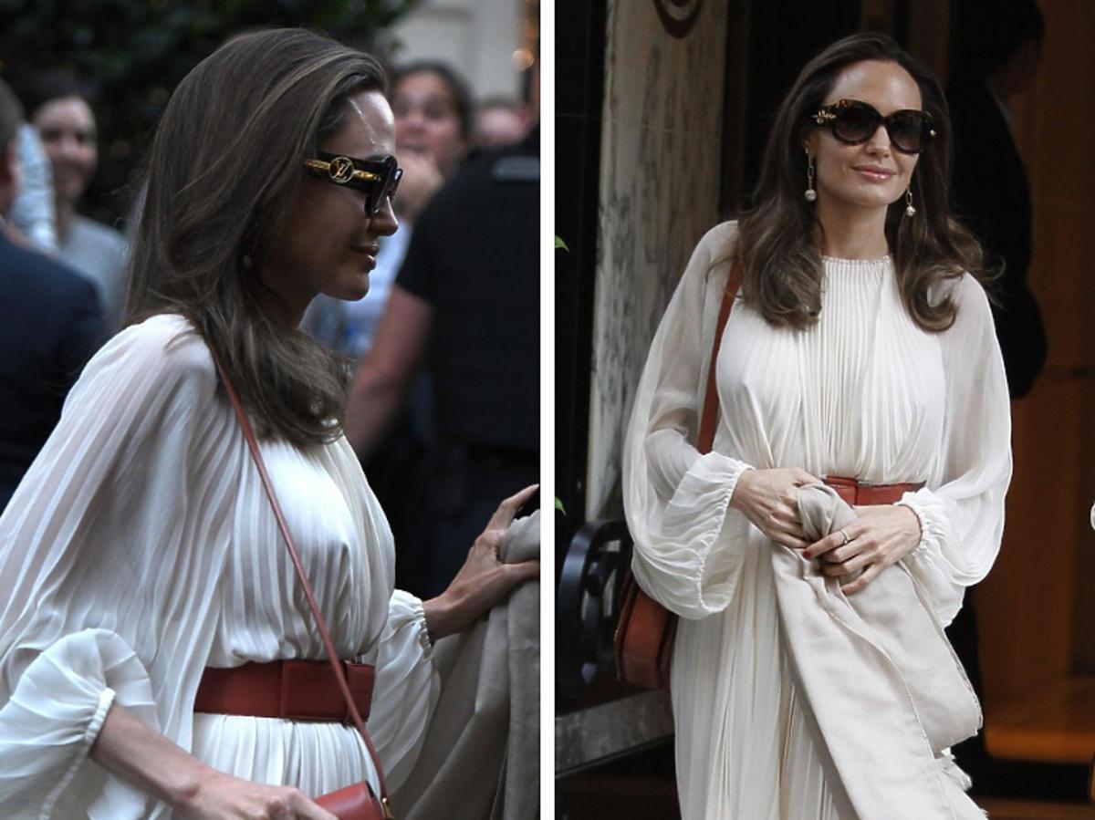 Angelina Jolie bez stanika
