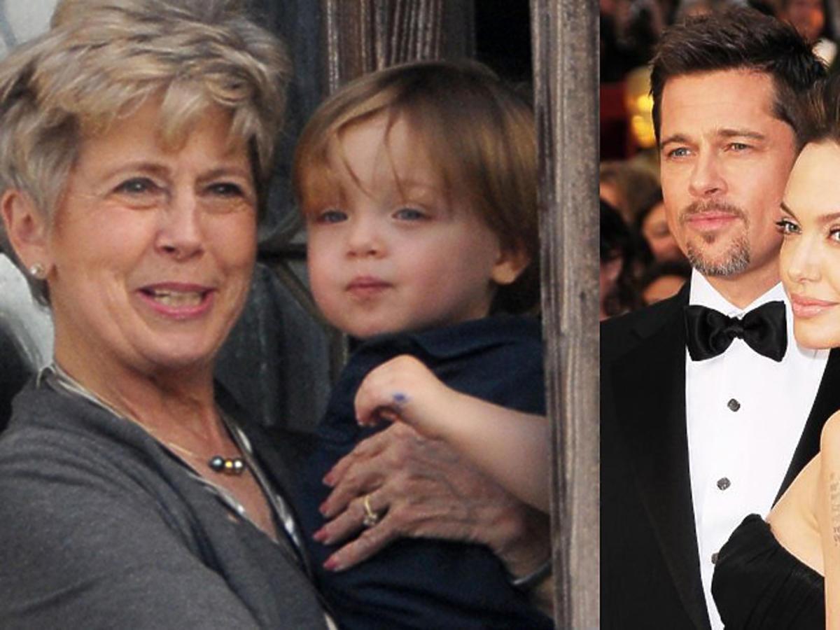 Angelina Jolie, Brad Pitt razem pozują do zdjęć, Jane Pitt