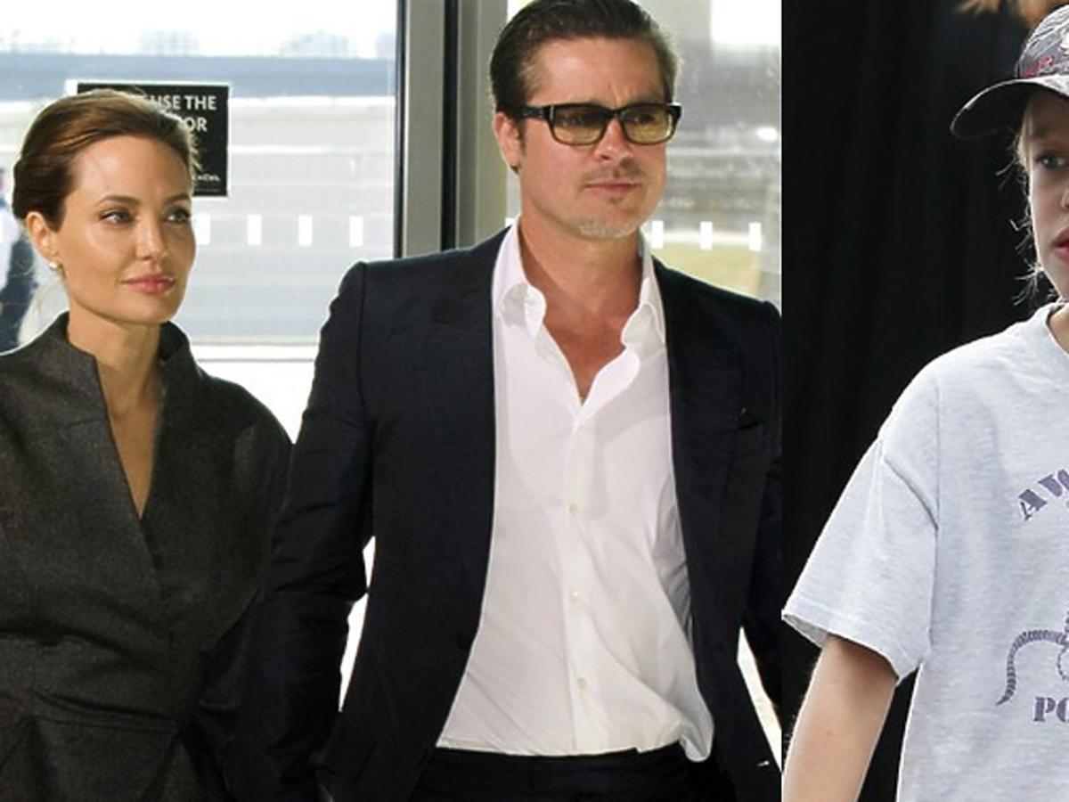 Angelina Jolie i  Brad Pitt na co dzień