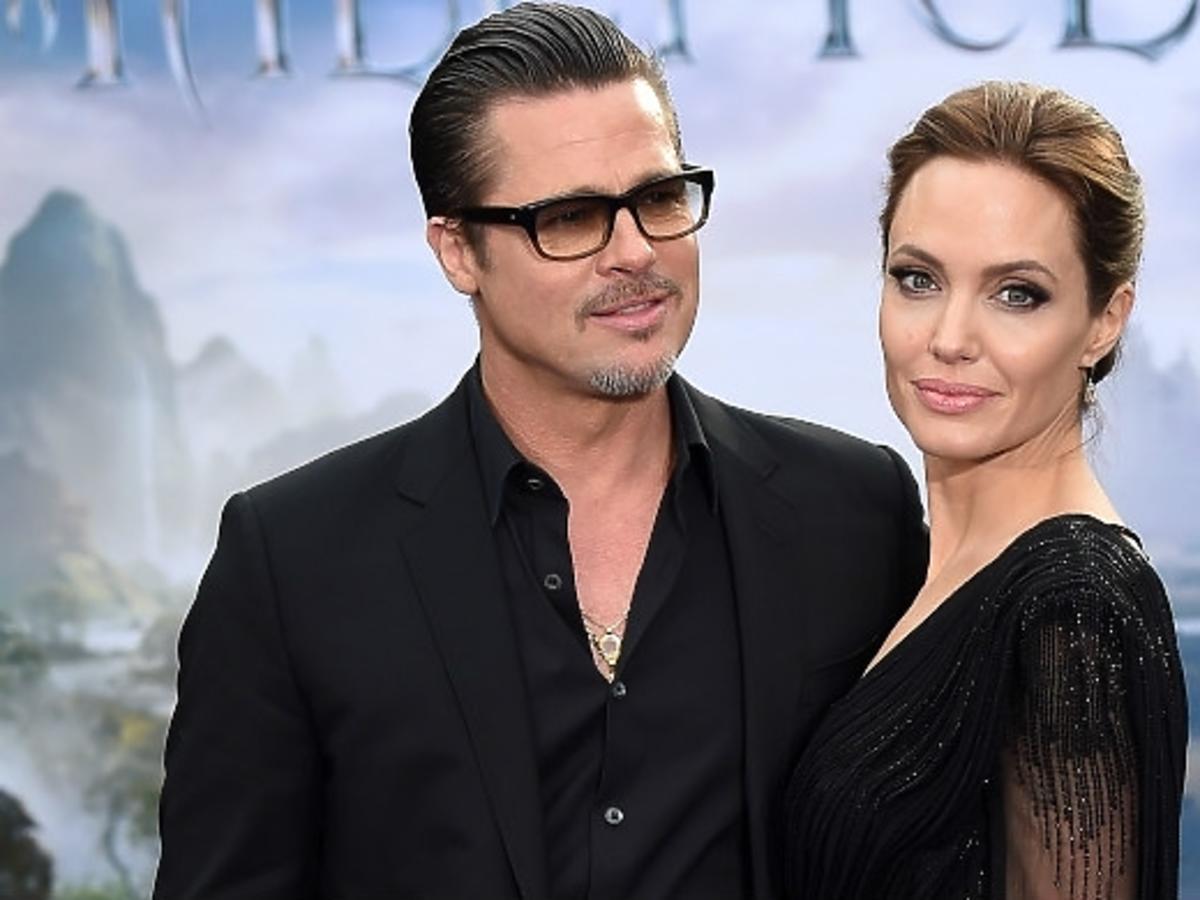 Angelina Jolie i Brad Pitt na premierze filmu Czarownica