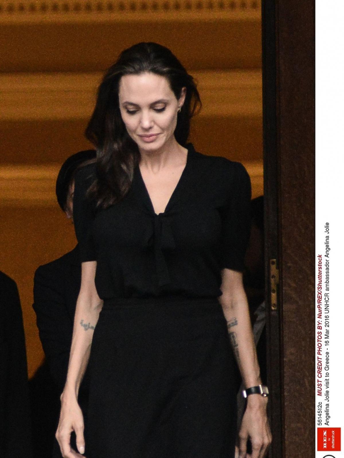 Angelina Jolie na oficjalnej wizycie z Grecji