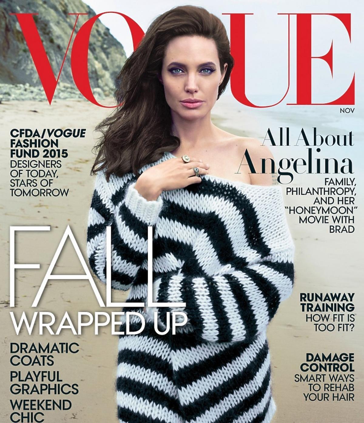 Angelina Jolie na okładce Vogue