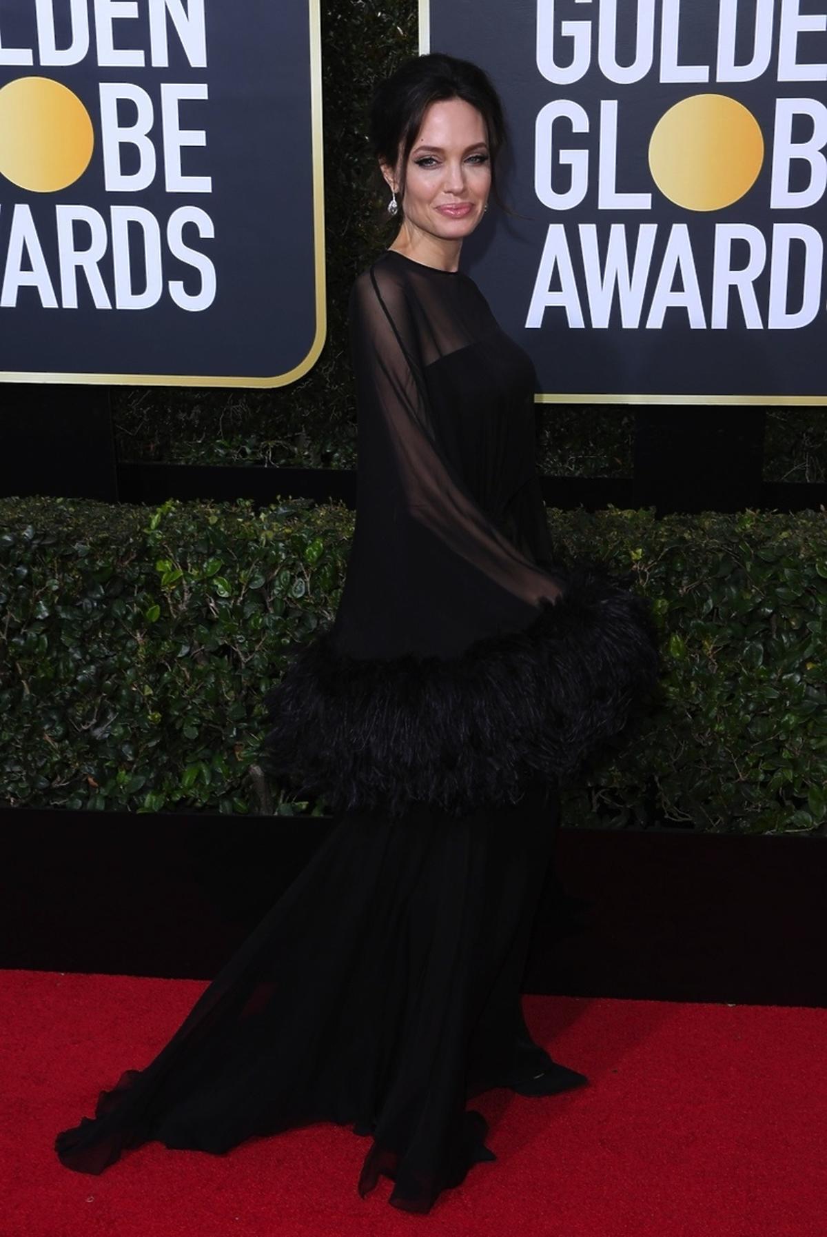 Angelina Jolie na Złotych Globach