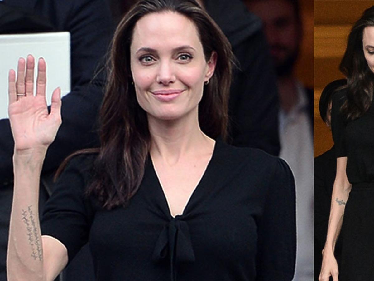 Angelina Jolie pozuje do zdjęć