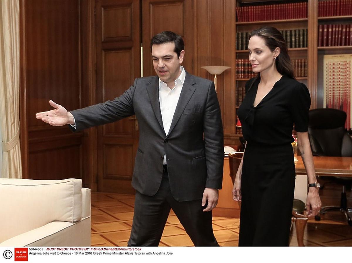 Angelina Jolie rozmawia z premierem Grecji