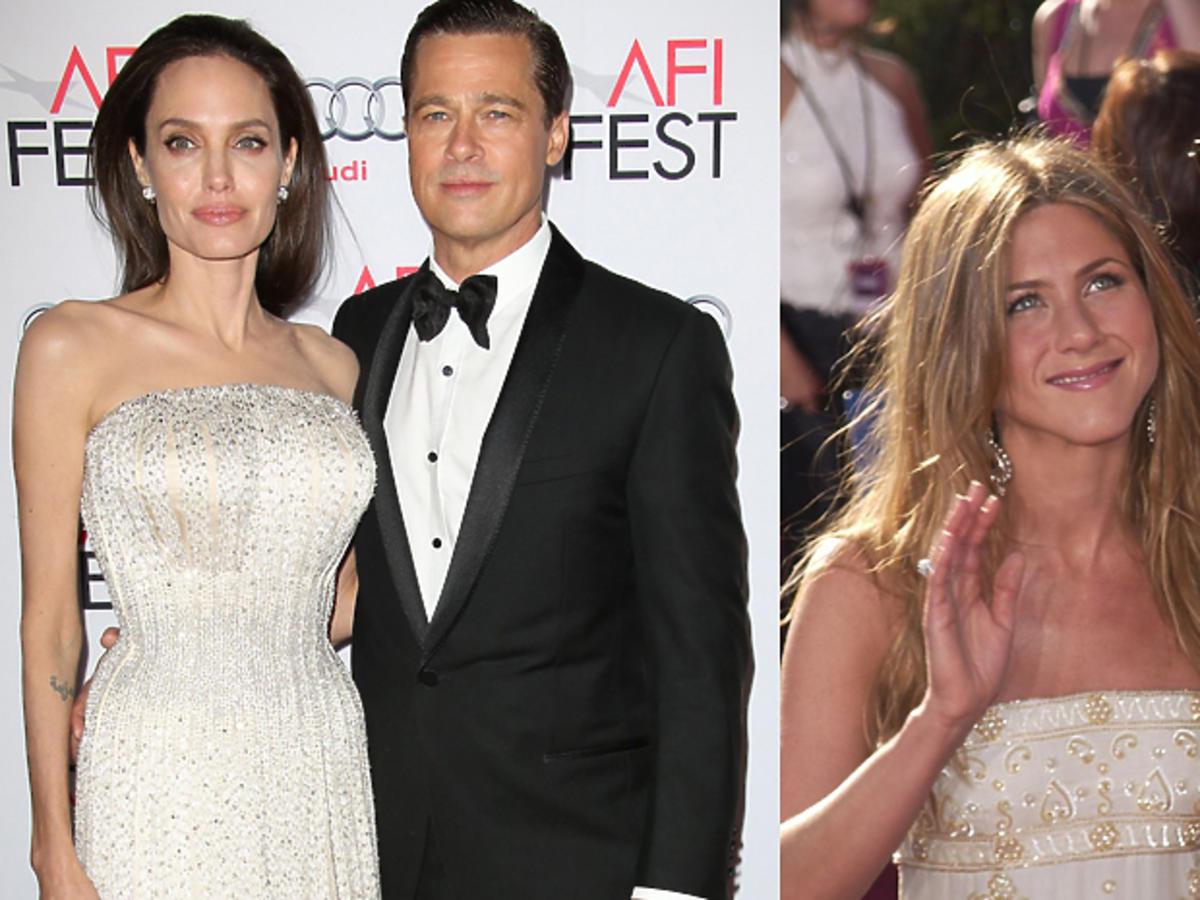 Angelina Jolie w białej sukience