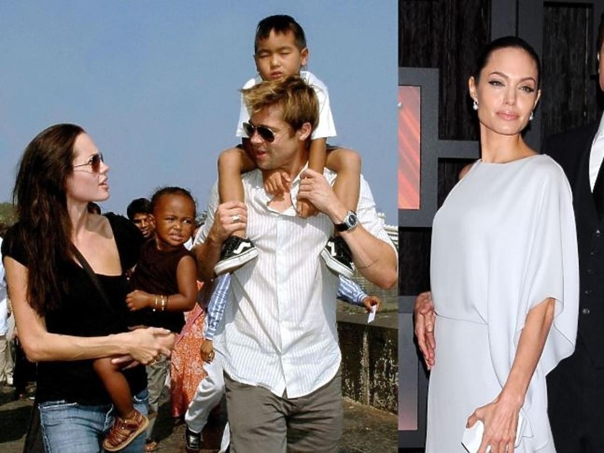 Angelina Jolie w czarnej bluzce