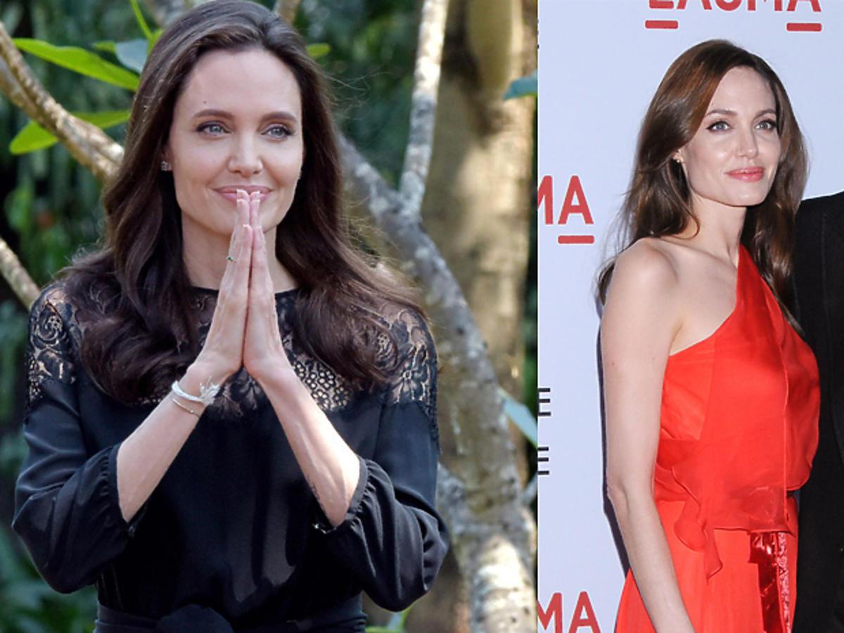 Angelina Jolie w czerwonej sukience