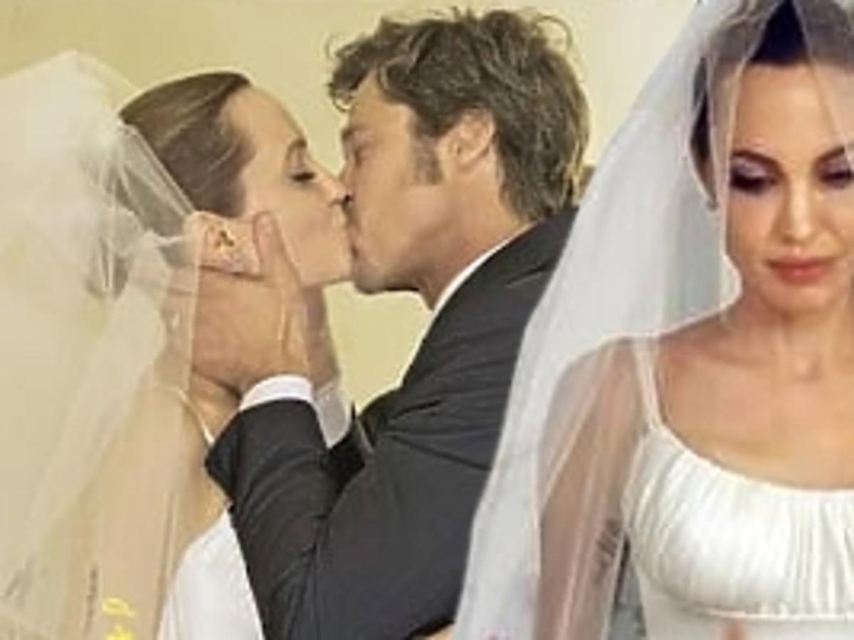 Angelina Jolie w sukni ślubnej na okładce People