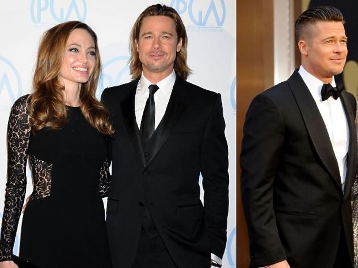 Angelina Jolie w złotej sukience