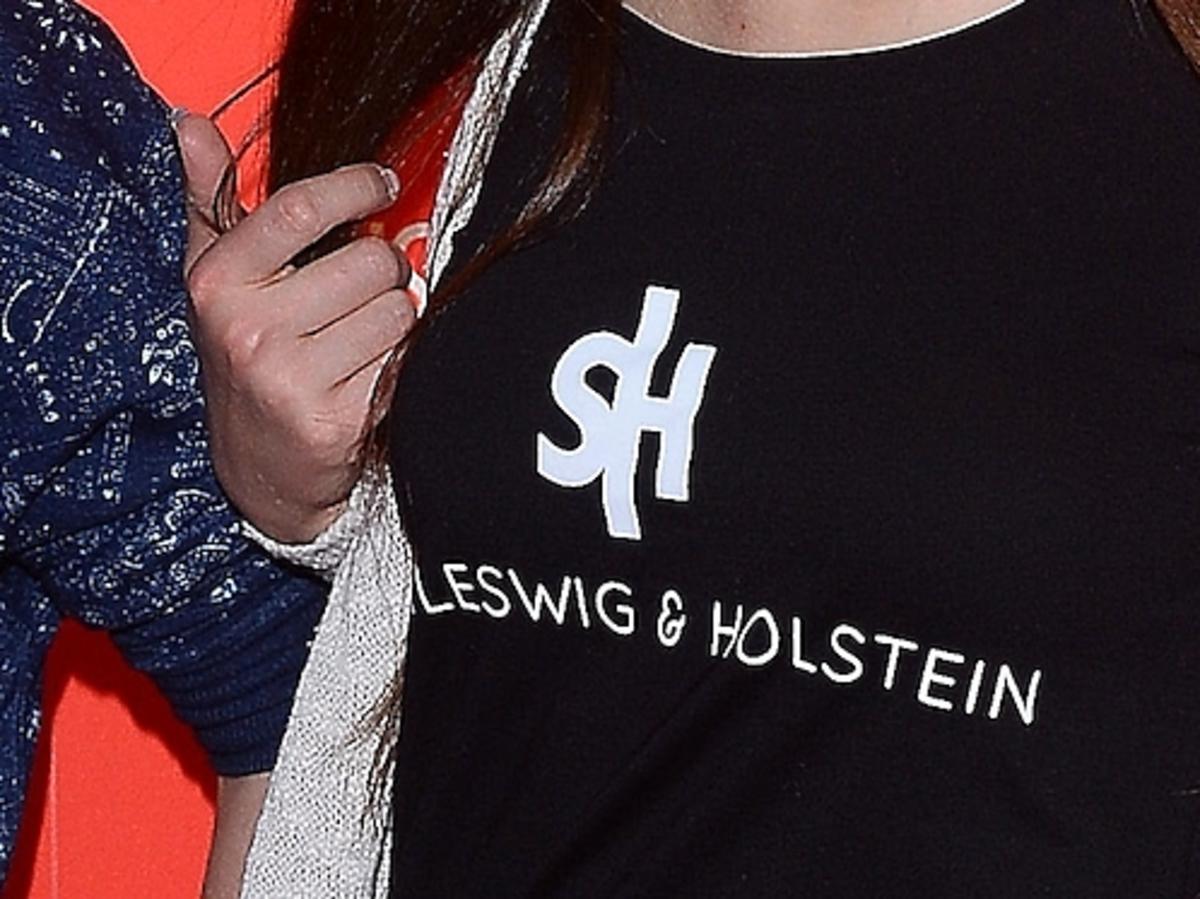 Ania Bałon w koszulce Schleswig and Holstein