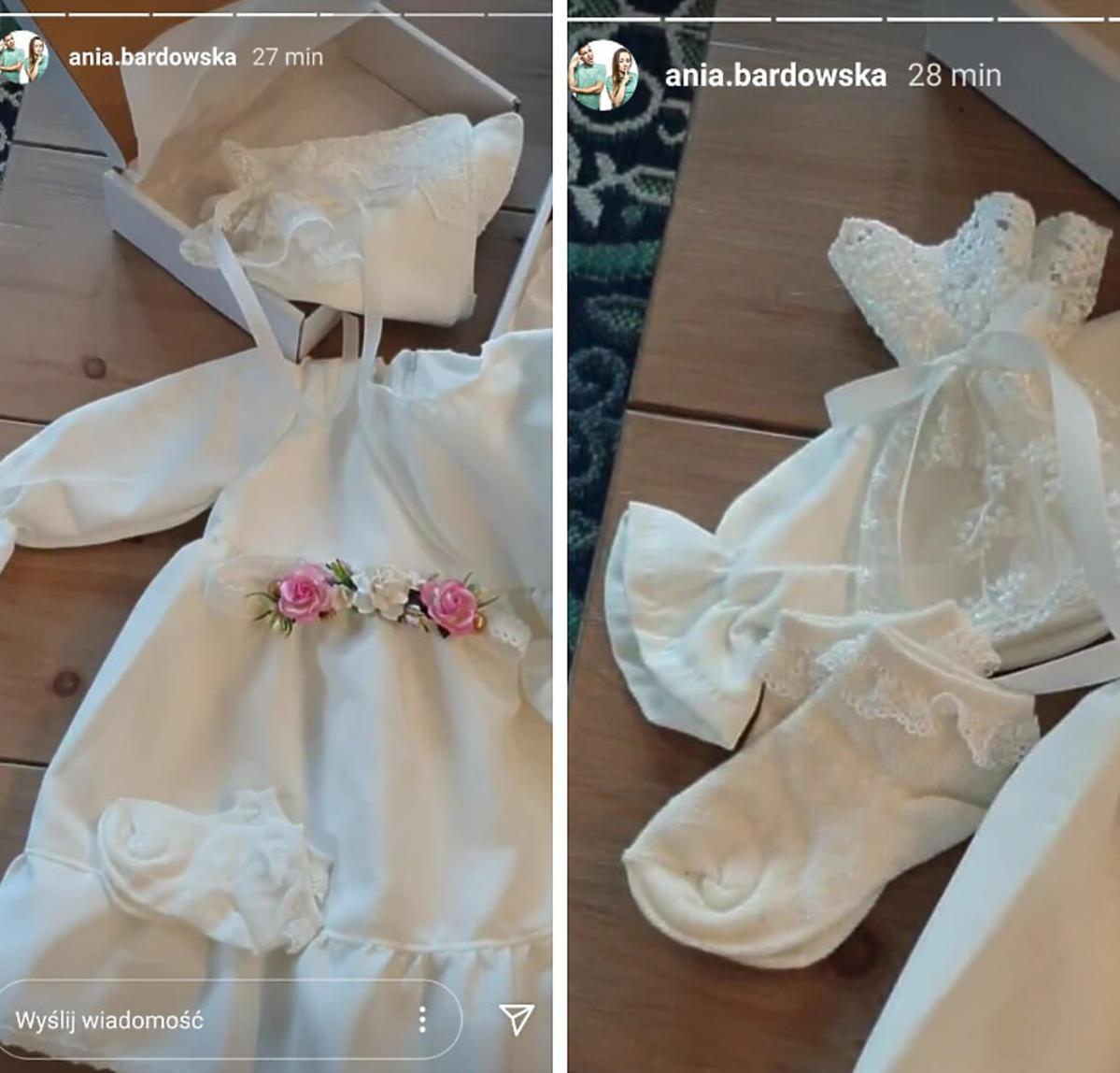 Ania Bardowska pokazała białą sukienkę córki