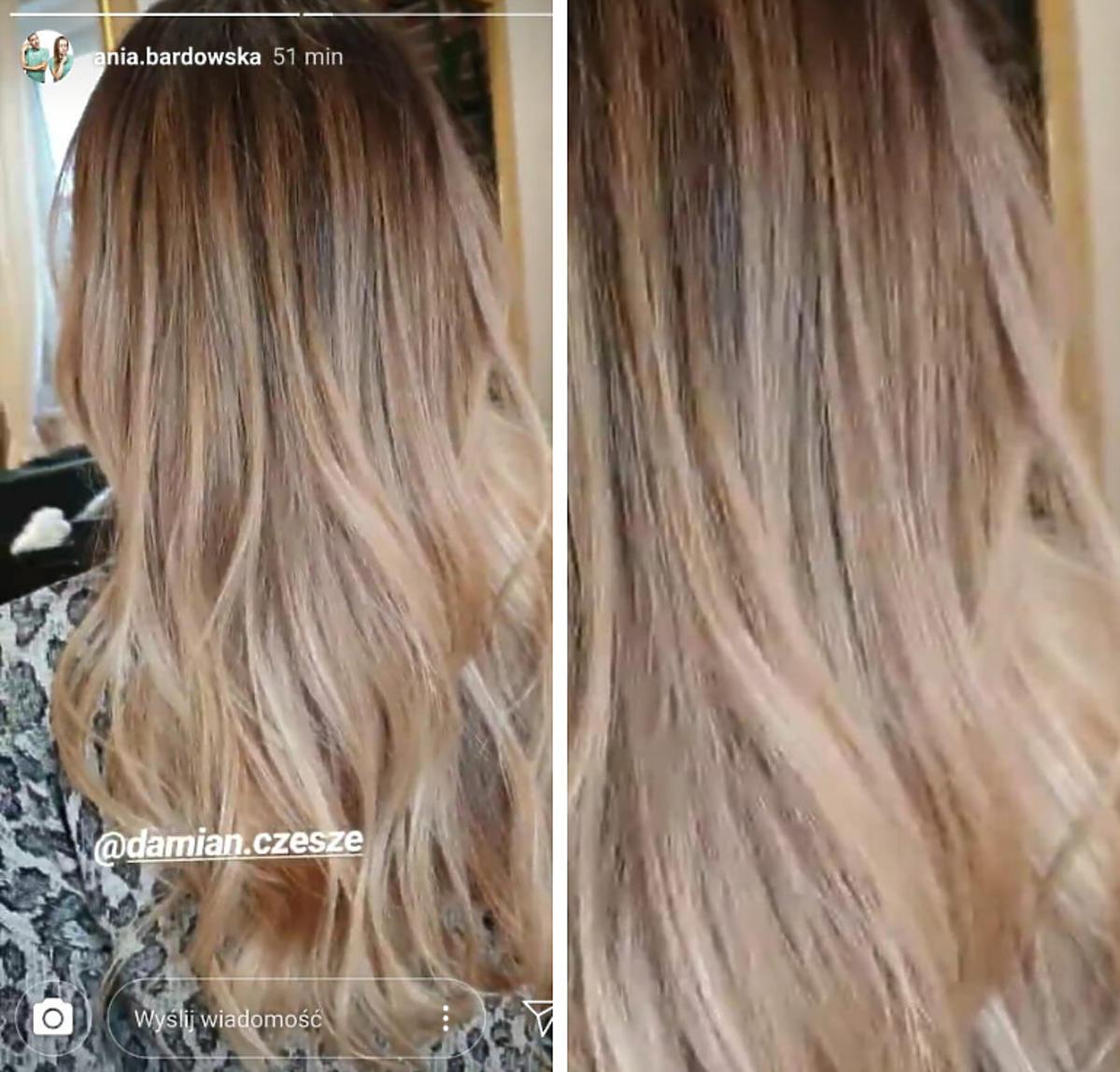 Ania Bardowska pokazała jaki ma kolor włosó