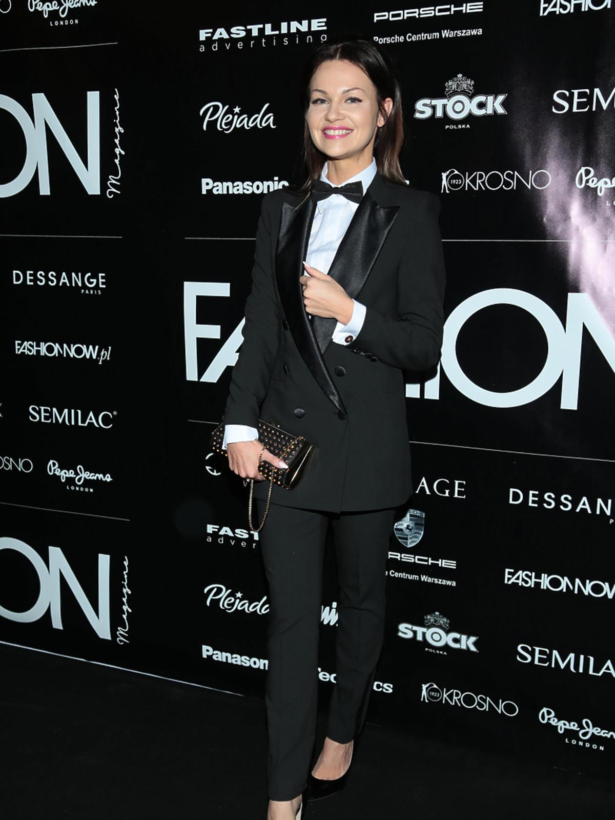 Ania Chęczkiewicz na rozdaniu nagród Fashion Magazine