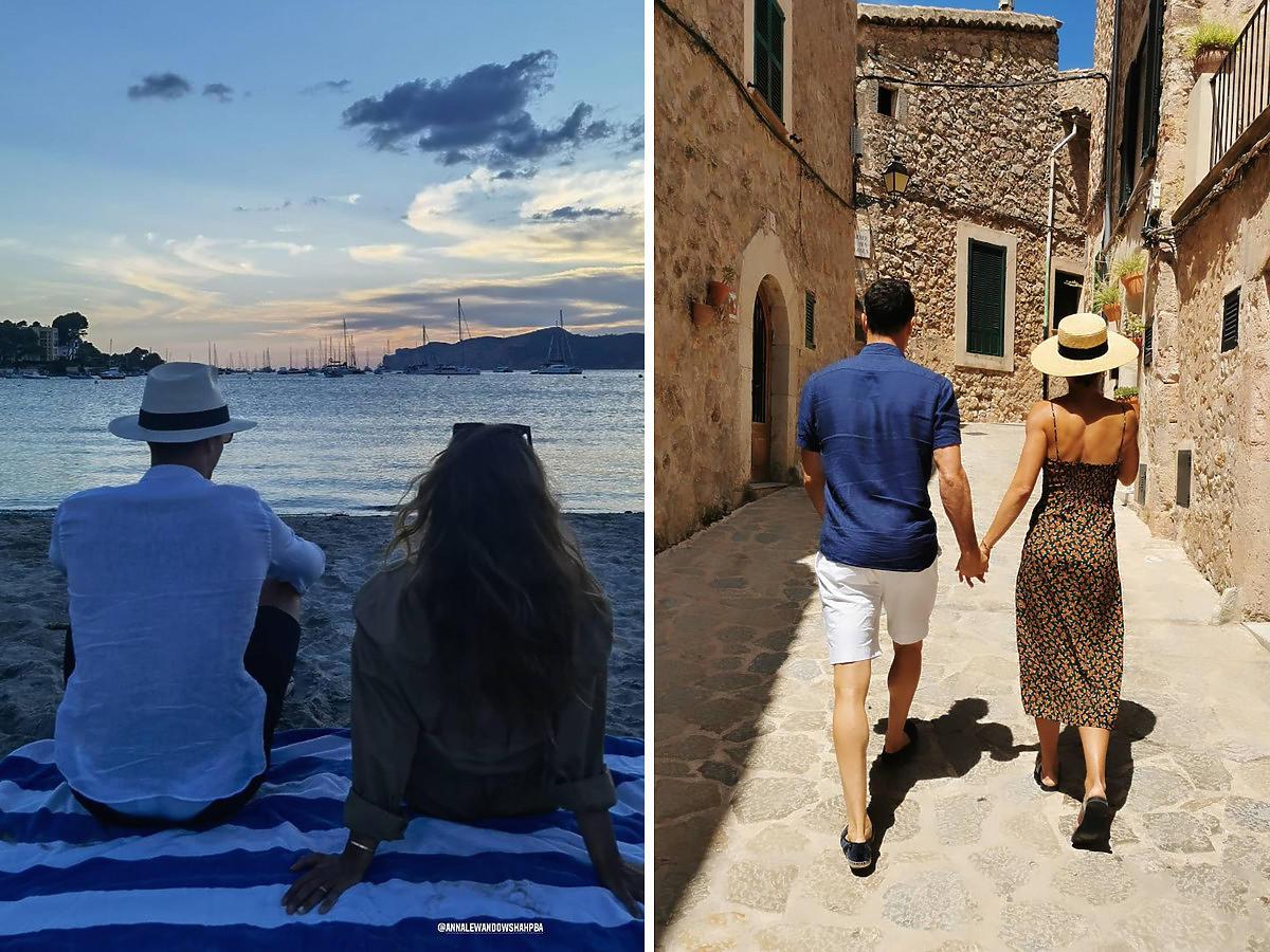 Ania y Robert Lewandowski de vacaciones en España