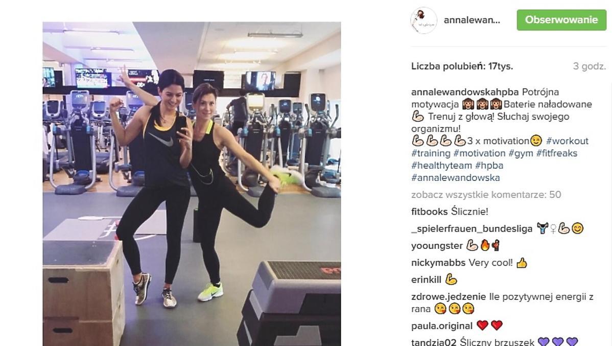 Ania Lewandowska w ciąży na siłowni