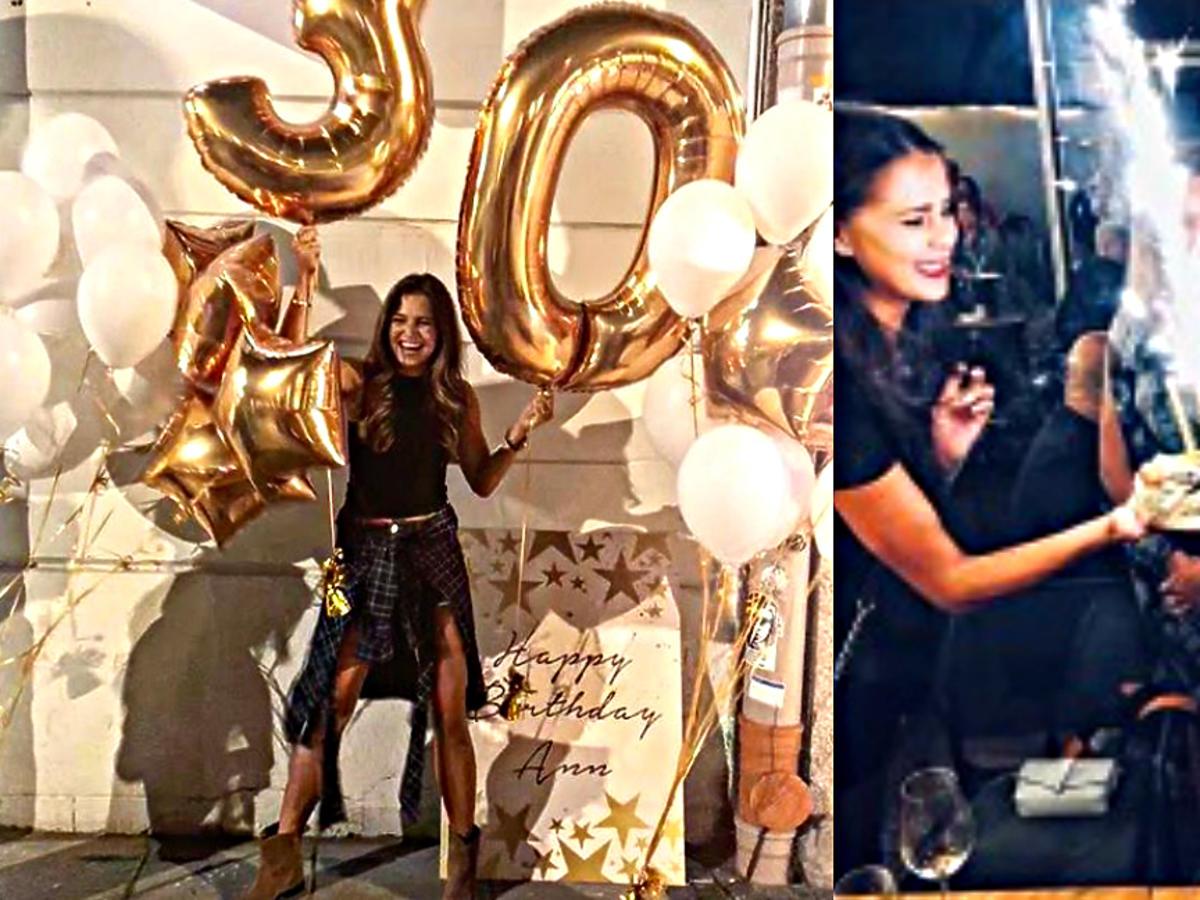 Ania Lewandowska wyprawiła 30. urodziny