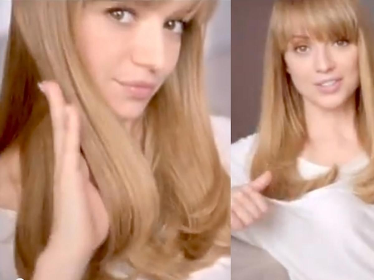 Ania Przybylska w reklamie Garnier