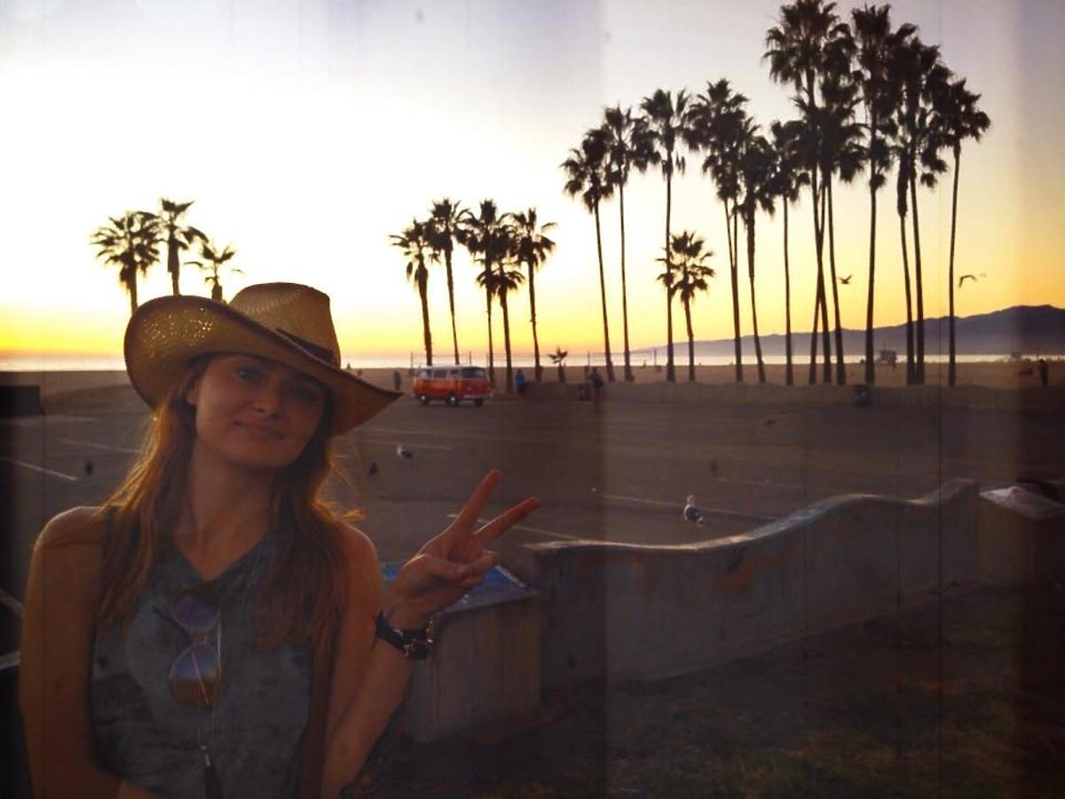 Ania Rusowicz na wakacjach w Kalifornii