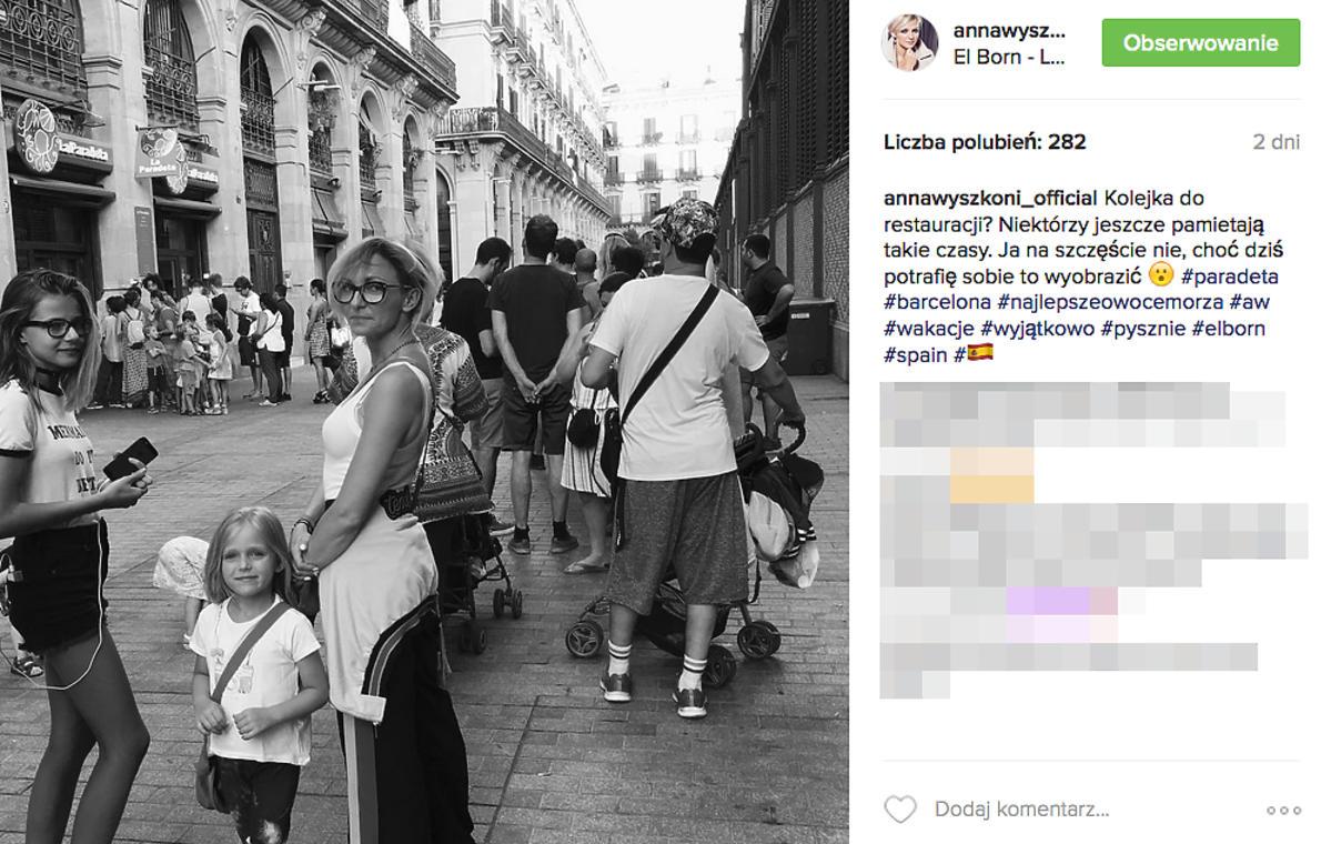 Ania Wyszkoni z rodziną na wakacjach