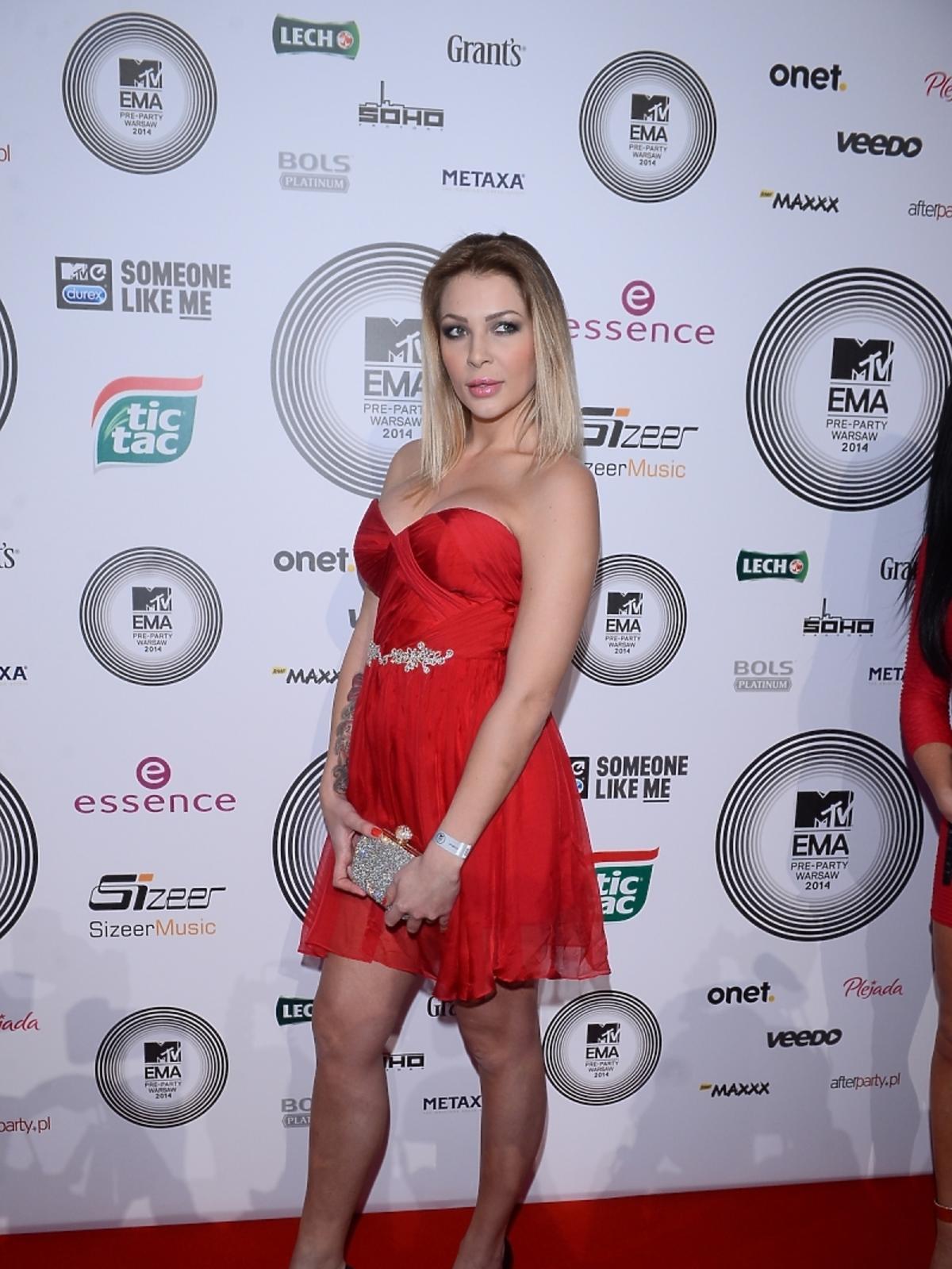 Ania z Warsaw Shore na MTV EMA Pre-Party 2014
