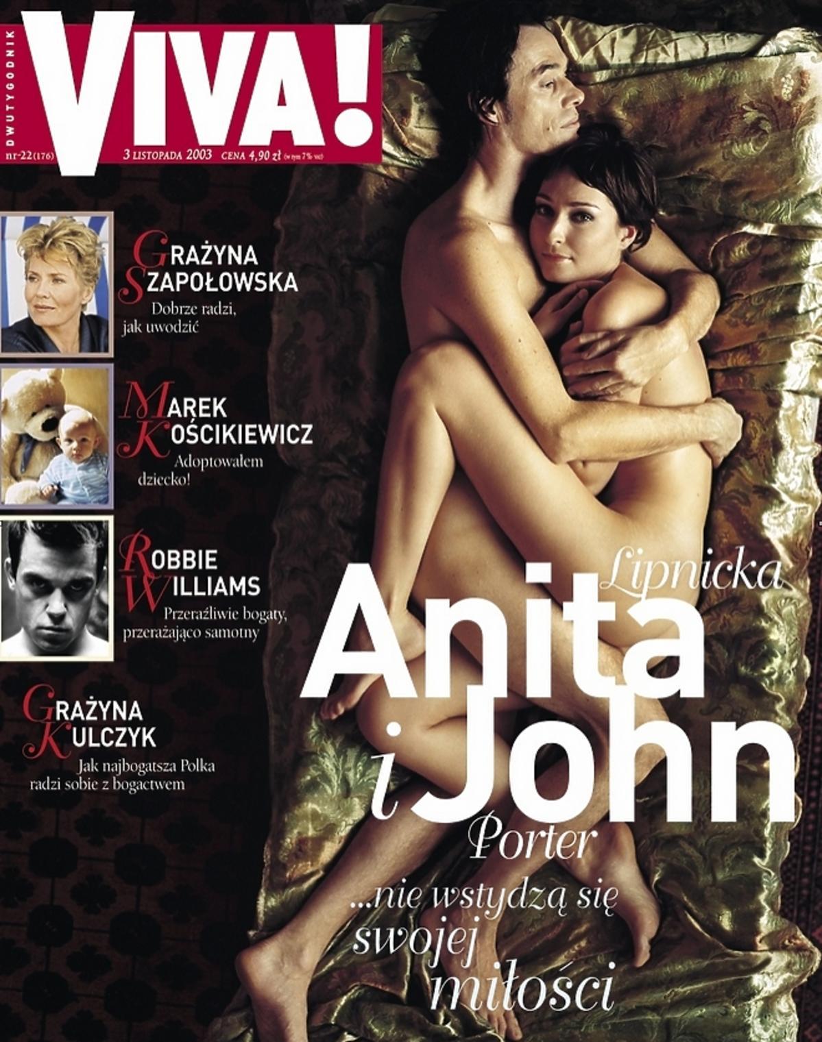Anita Lipnicka i John Porter nago na okładce Vivy! Wywiad, sesja