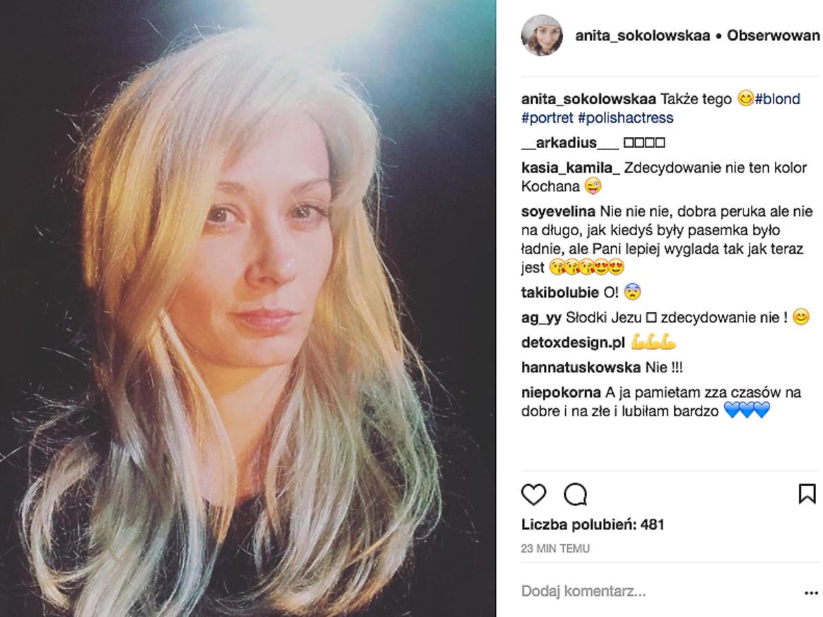 Anita Sokołowska jako blondynka