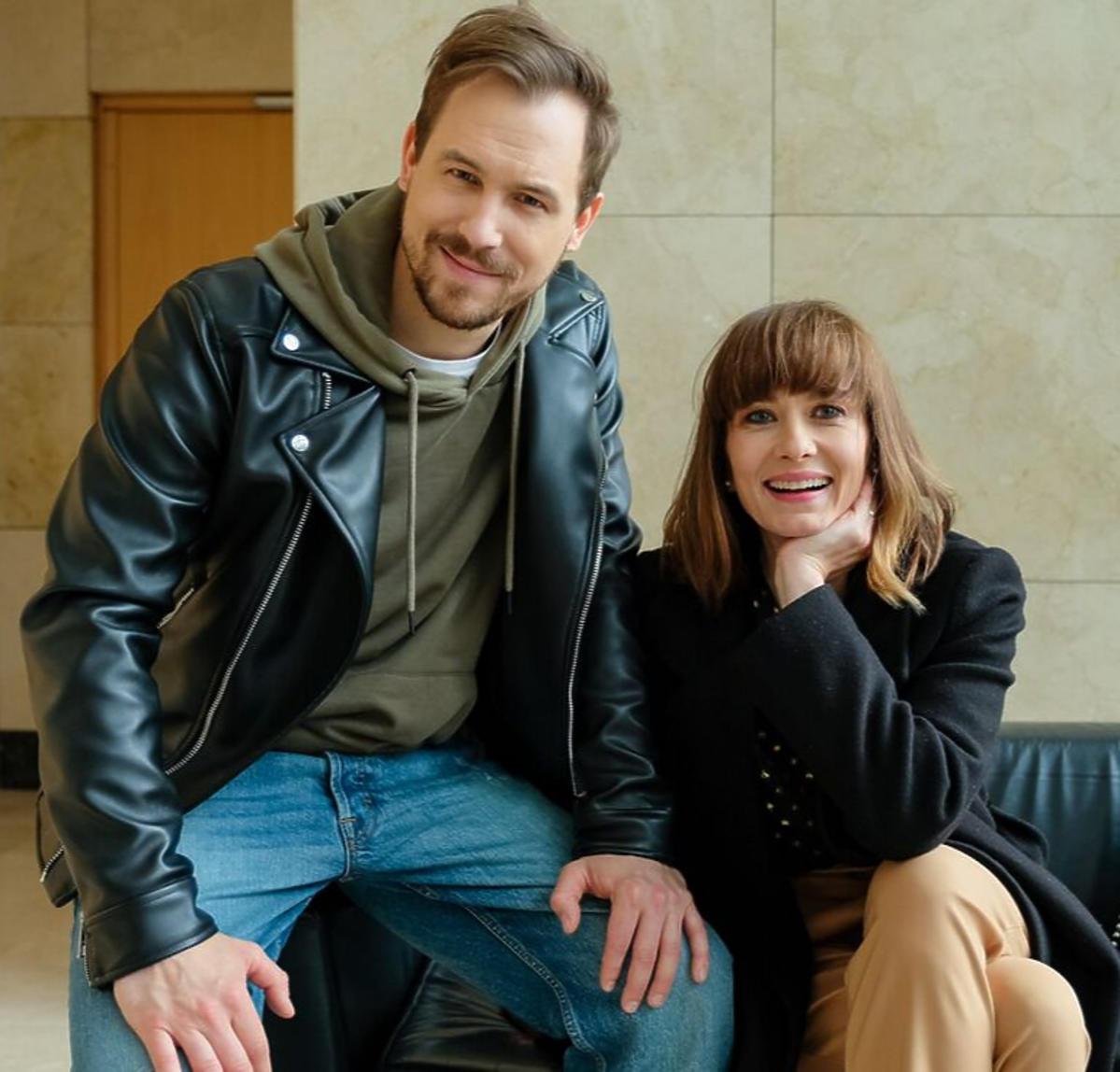 Anita Sokołowska na planie serialu