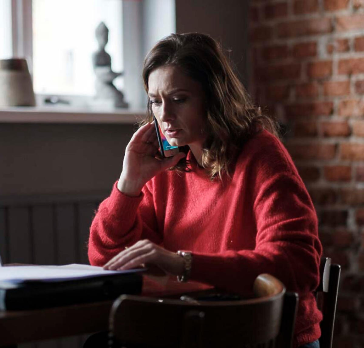 Anita Sokołowska na planie serialu Przyjaciółki