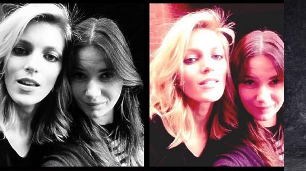 Anja Rubik i Karolina Malinowska na jeznym zdjęciu w rozpuszczonych włosach