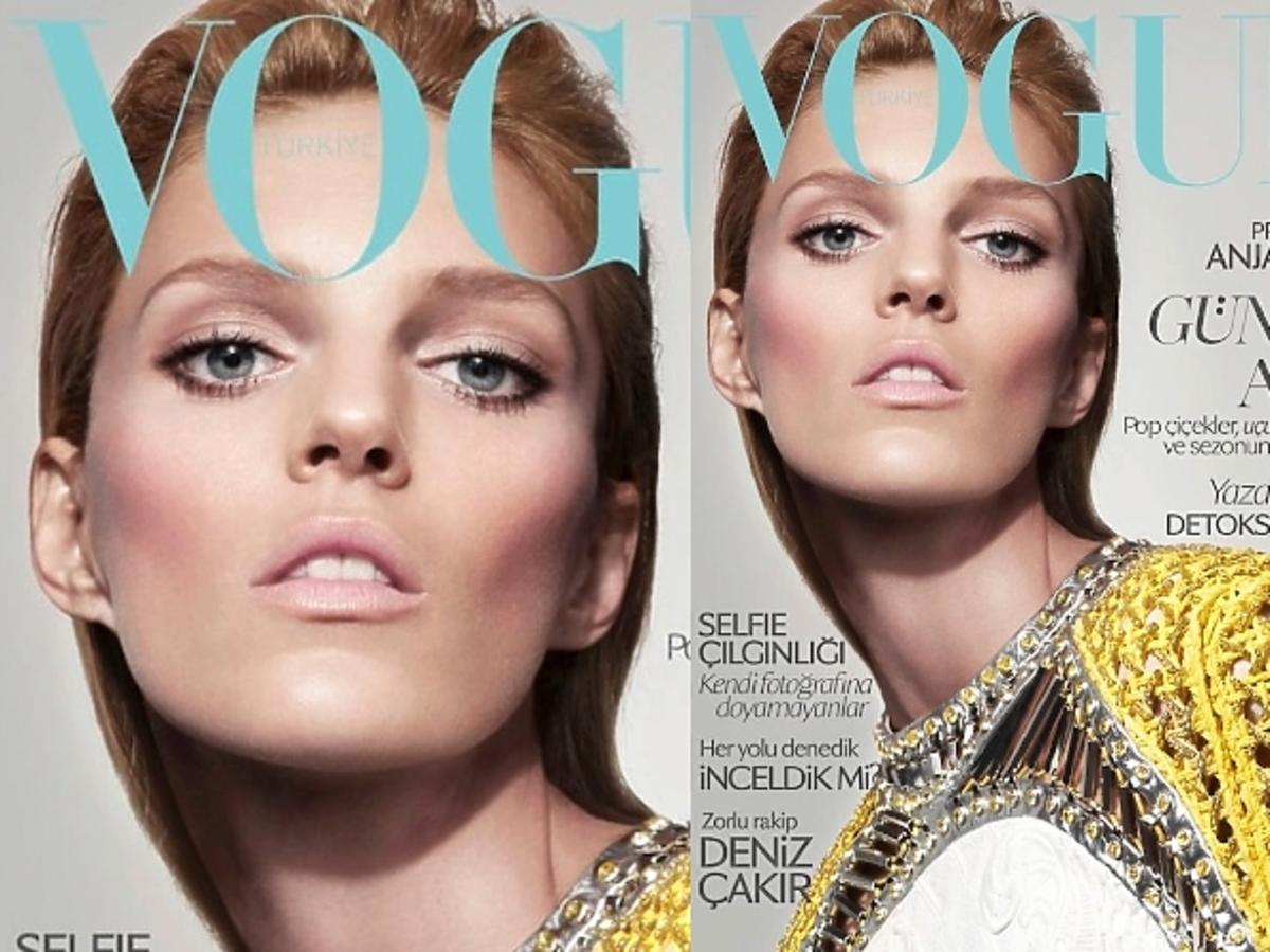 Anja Rubik na okładce tureckiego Vogue