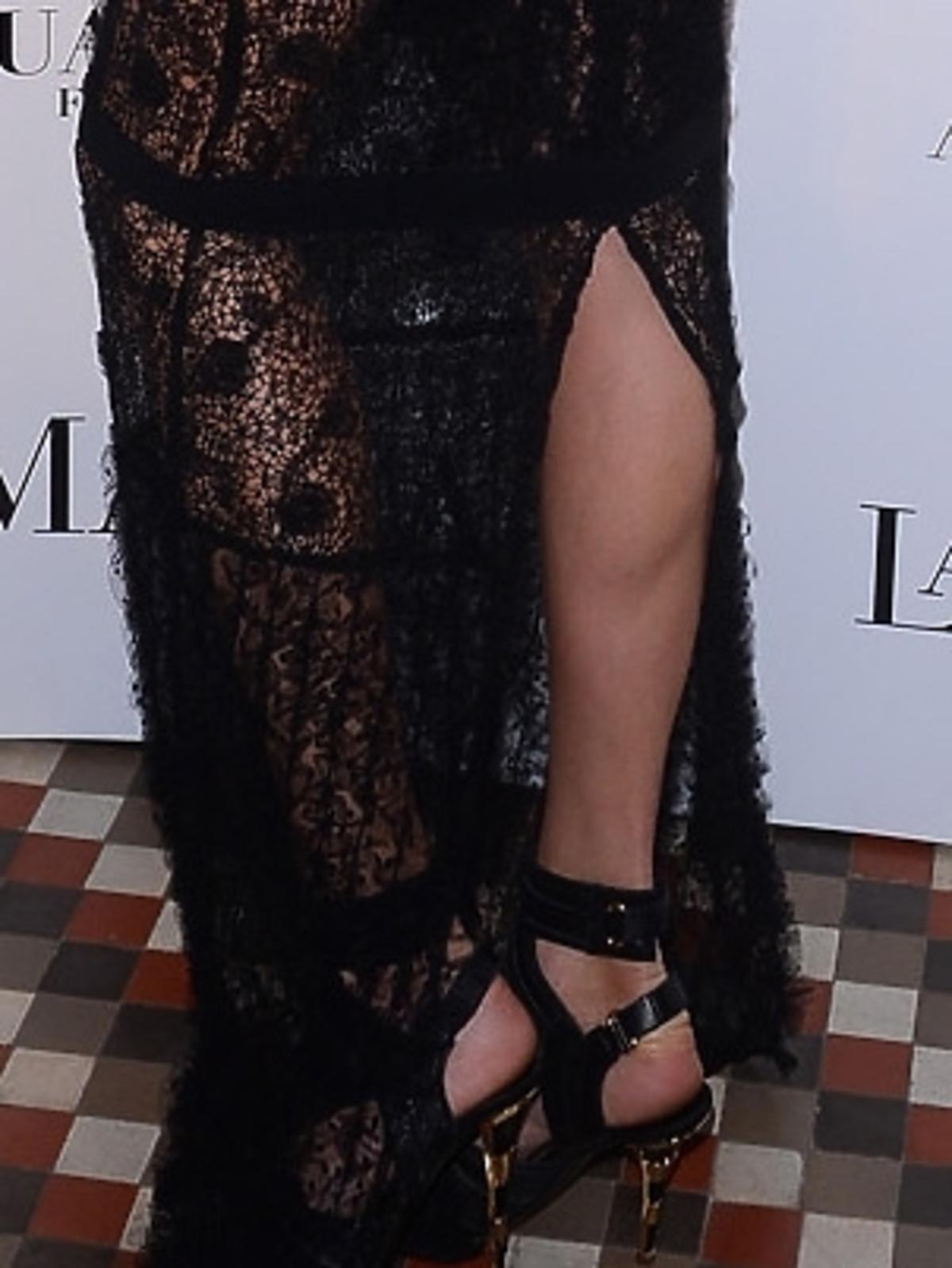 Anja Rubik na pokazie La Mania
