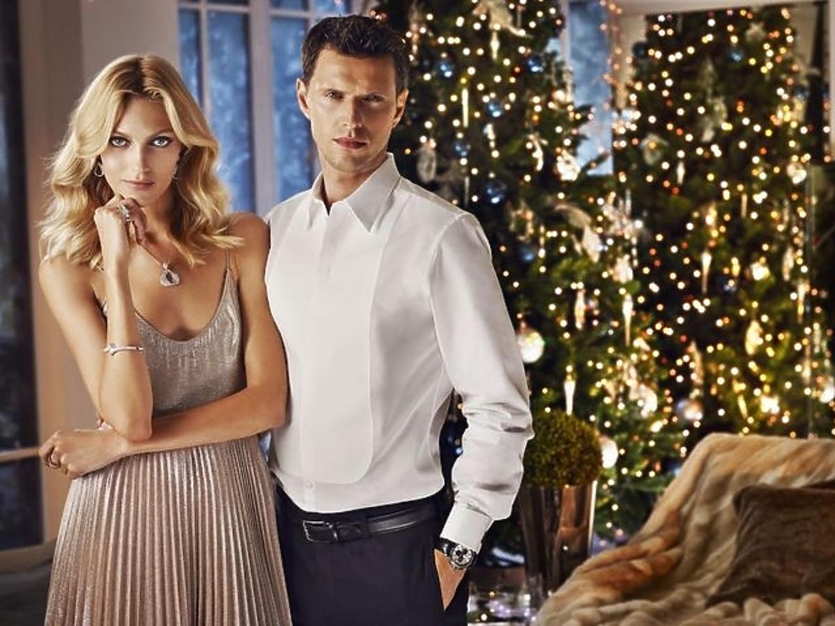 Anja Rubik z mężem w świątecznej sesji dla marki Apart