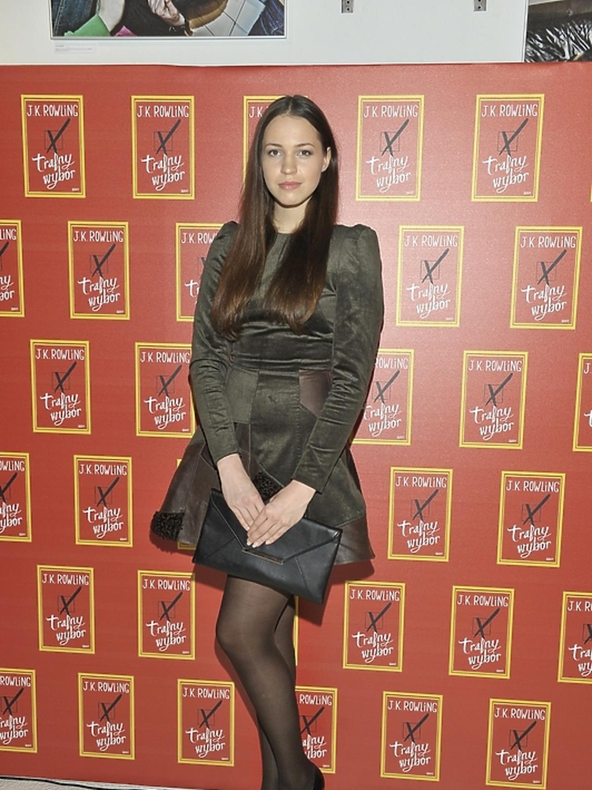 Anna Bałoń na premierze książki J.K.Rowling