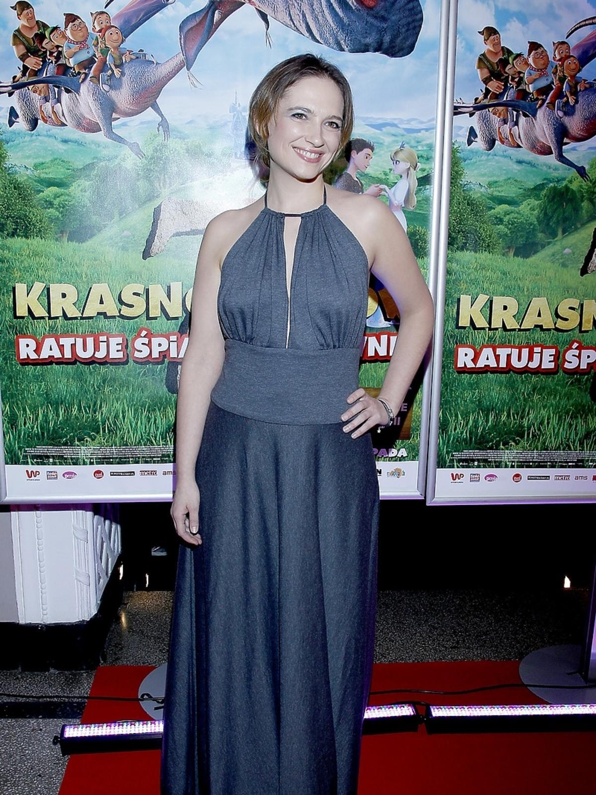 Anna Cieślak na premierze filmu