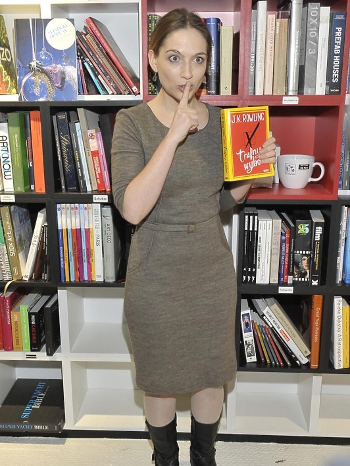 Anna Cieślak na premierze książki J.K.Rowling