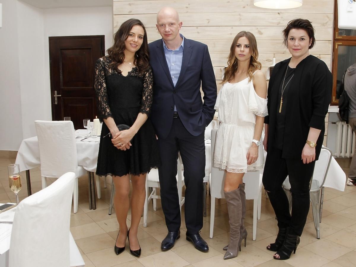 Anna Czartoryska, Anja Pavlik, Jola Czaja (stylistka gwiazd) na kolacji Guessa