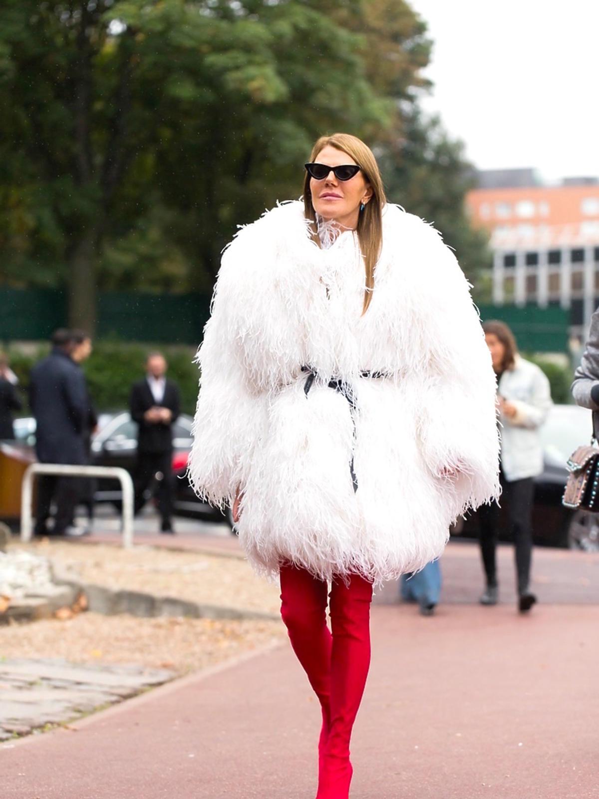 Anna Dello Russo na paryskim tygodniu mody, październik 2017