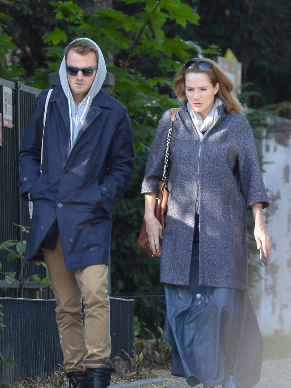 Anna Dereszowska i Daniel Duniak na spacerze