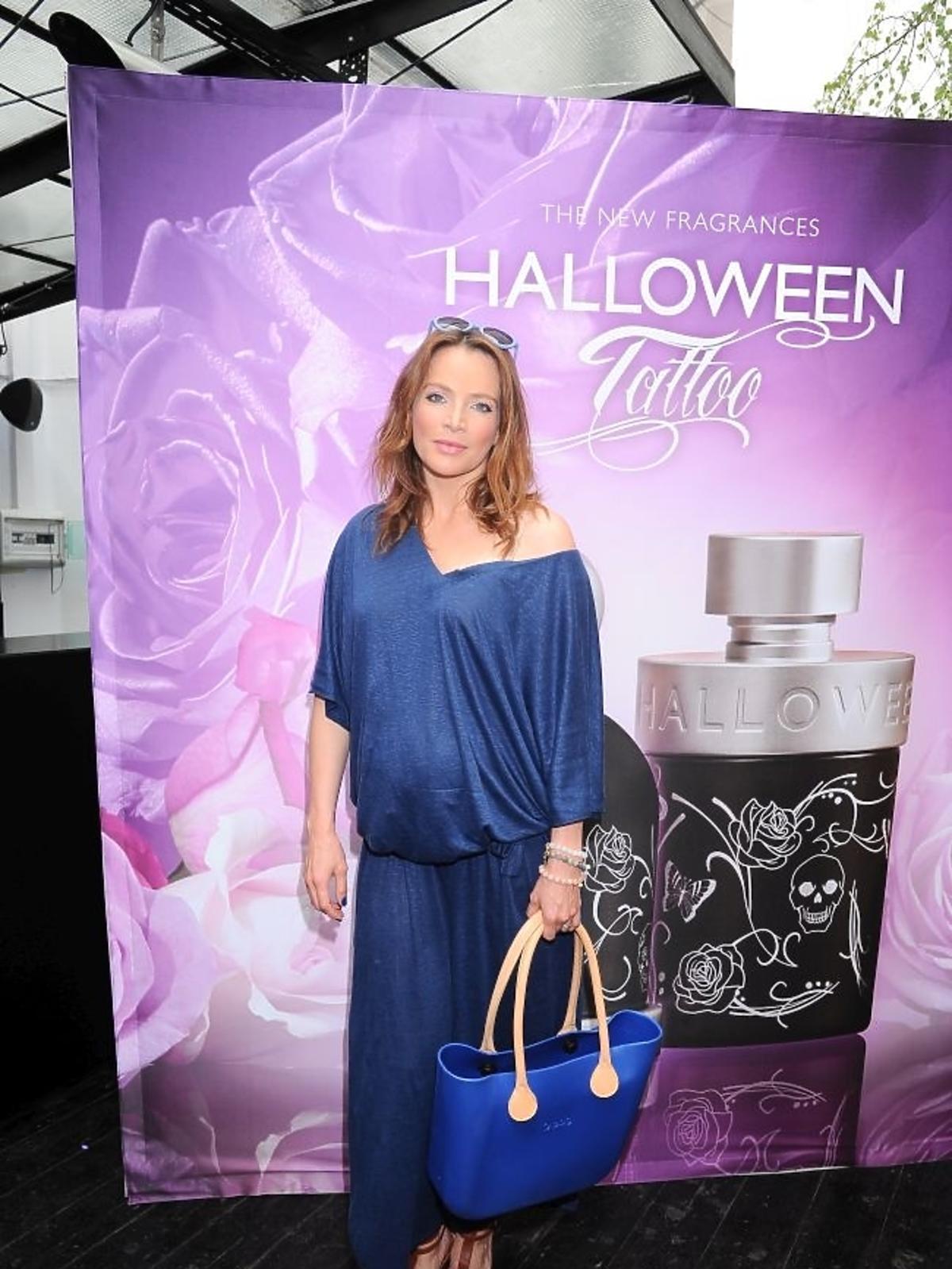 Anna Dereszowska na premierze perfum Halloween Tattoo