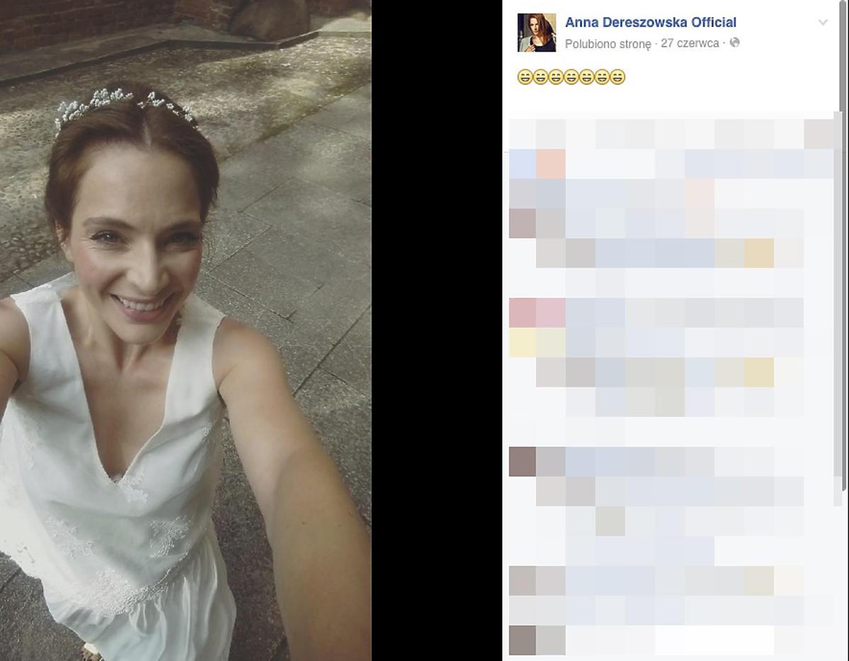 Anna Dereszowska w sukni ślubnej