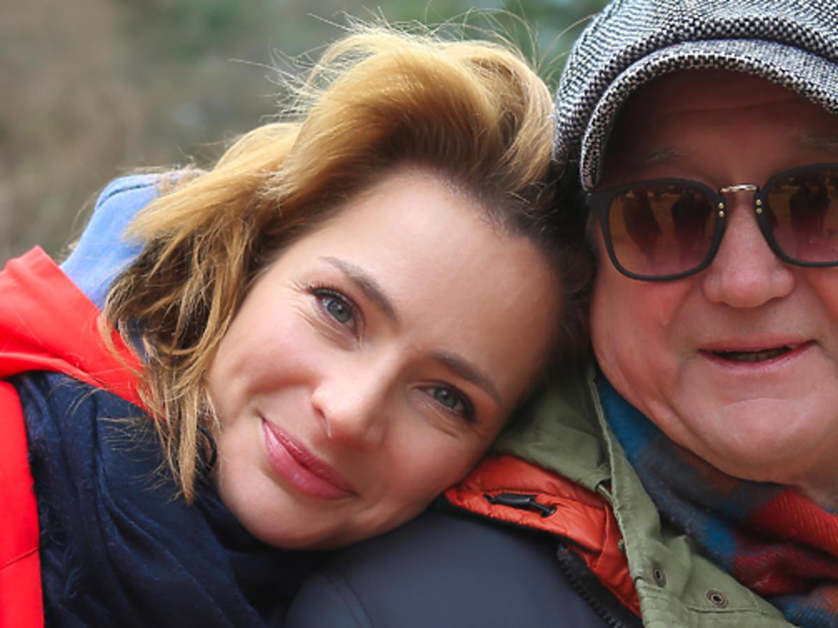 Anna Dereszowska z ojcem