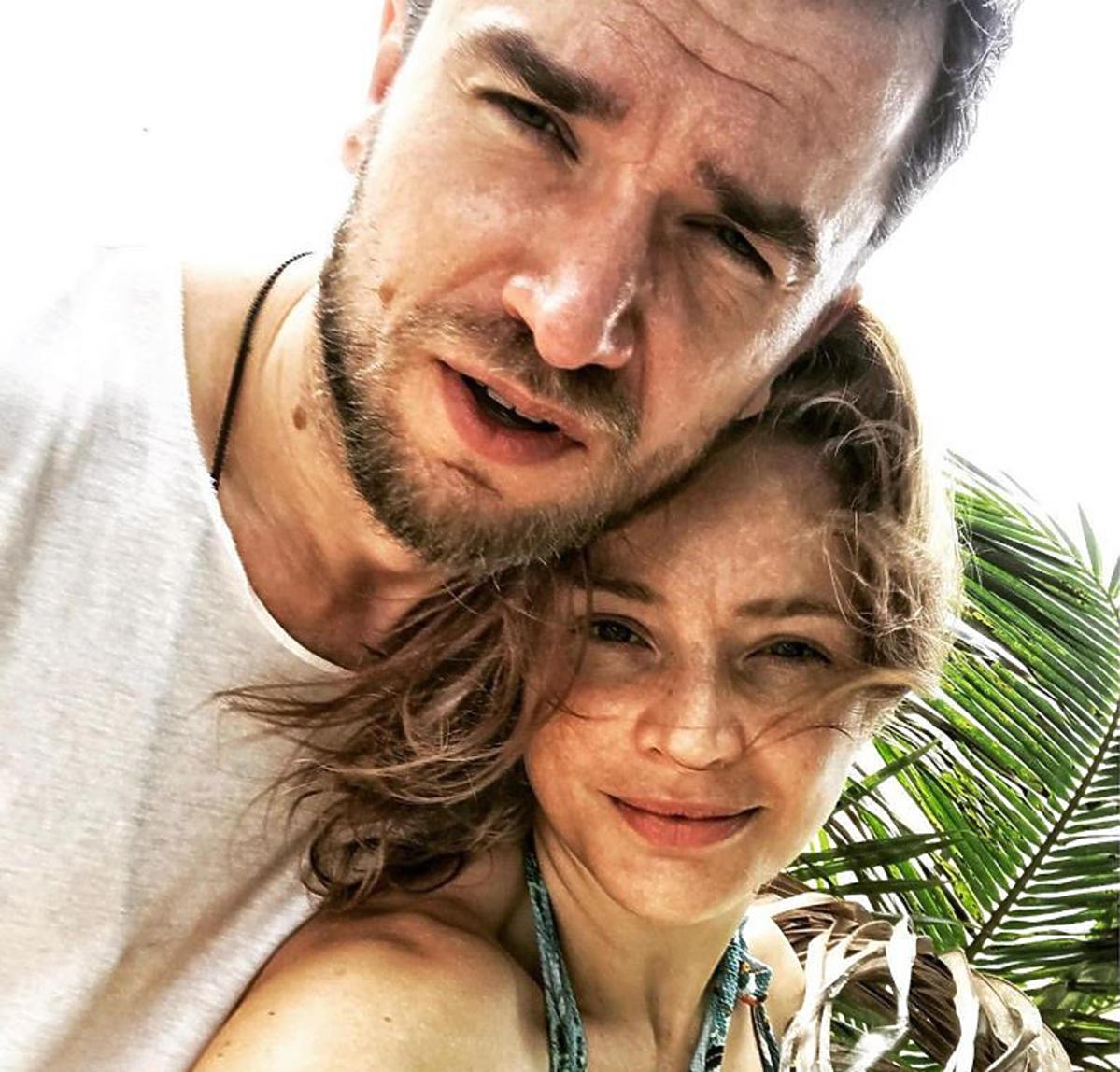 Anna Dereszowska z partnerem, Danielem